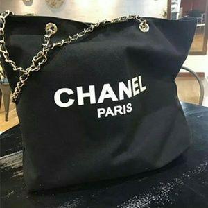 Authentic chanel vip black tote